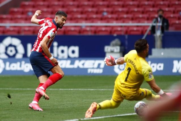 Er was wat geluk mee gemoeid, maar nieuw doelpunt van Yannick Carrasco brengt Atlético aan kop in La Liga