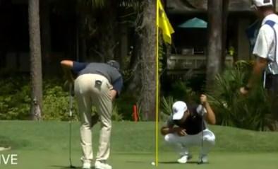 Een beetje Van Aert en Pidcock: wanhopige golfer viert nadat bal na ruim één minuut in hole valt (maar zijn euforie is van korte duur)