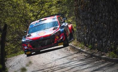 Elfyn Evans is sneller dan Thierry Neuville in de shakedown tijdens Rally van Kroatië