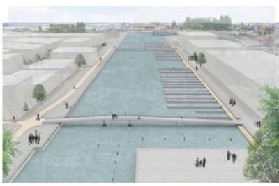 Deze nieuwe fiets- en voetgangersbrug gaat Oude Dokken verbinden met het stadscentrum