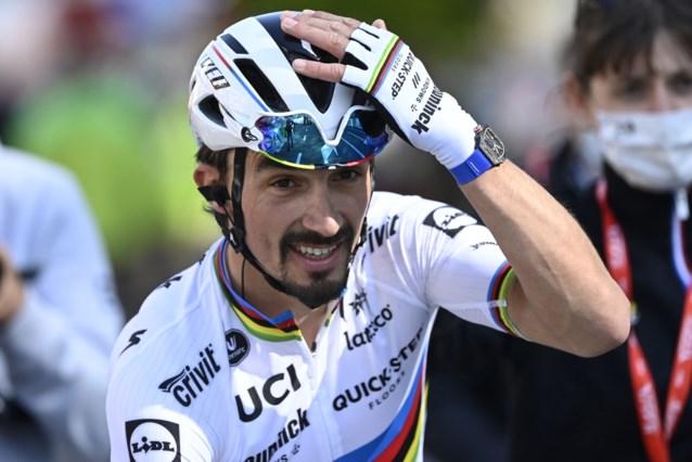 """Julian Alaphilippe relativeert nederlaag in Luik-Bastenaken-Luik: """"Tweede worden na de Tourwinnaar is niet slecht"""""""