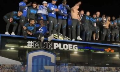 Corona of niet: fans Genk komen massaal op straat, spelers bouwen feestje op de bus