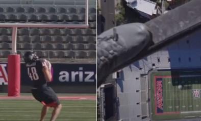 Waanzin: NFL-kampioen Rob Gronkowski zet wereldrecord door football die 183 (!) meter uit de lucht valt op te vangen
