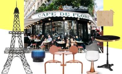 Zo tover je voor een prik je terras om tot een Parijse bistro