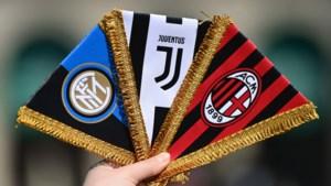 Italiaanse voetbalbond zet Juventus, Inter en AC Milan buitenspel