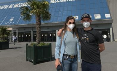 """IN BEELD. Belgische olympiërs krijgen eerste prik met coronavaccin: """"Ik heb een beetje stress"""""""
