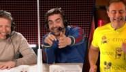 Wesley en Pedro grappen over het expressief loopgezicht van Bart De Wever in 'De container cup'