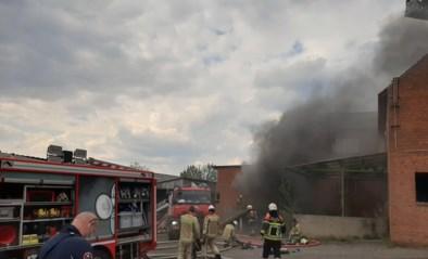 Kelderbrand in verlaten schoenenfabriek, vermoeden van brandstichting