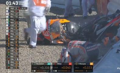 Jaar na val met zware gevolgen ontsnapt veelvoudig wereldkampioen MotoGP Marc Marquez aan de dood bij zware crash