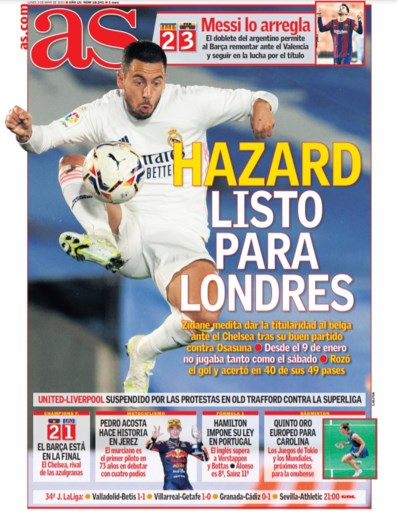 """Start """"onttroonde prins"""" Eden Hazard in de basis bij Real tegen ex-club Chelsea? """"Zidane krijgt een dilemma voorgelegd"""""""