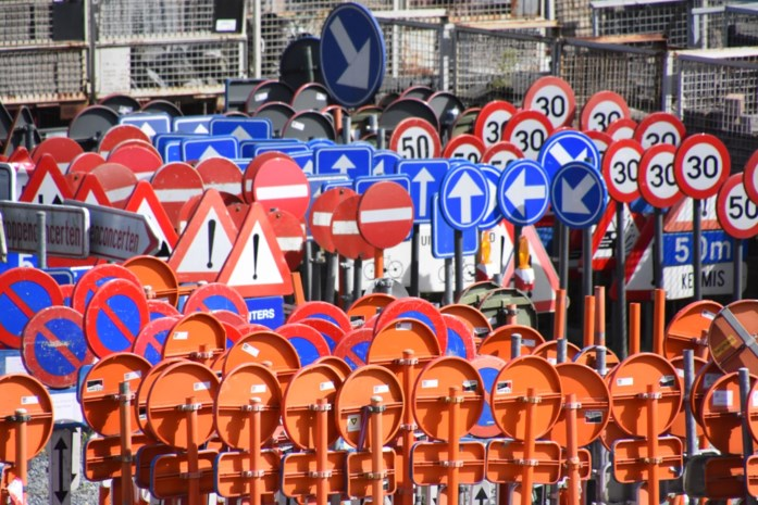 Weekje werken aan Edingsesteenweg, fietsers worden omgeleid