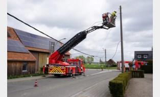 Brandweer krijgt twintigtal oproepen voor stormschade