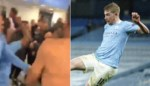 """Kevin De Bruyne en Manchester City-spelers vieren als dolle mannen in kleedkamer: """"It's Friday theeeeeen!"""""""