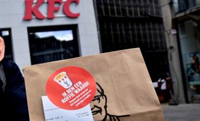Nieuw wapen tegen zwerfvuil van KFC Hasselt: gratis ijs en koffie