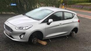 Bizarre diefstal in Messelbroek: dieven stelen autobanden en velgen, maar laten auto staan