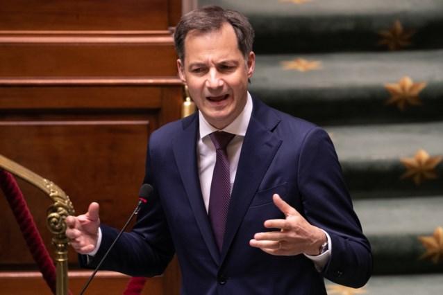 """Premier De Croo: """"Dit gaat over Deborah in de supermarkt, maar ook over Caroline met de schoenwinkel"""""""