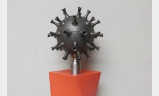 Docenten De Nayer maken kunstwerk van coronavirus via 3D-metaalprinten