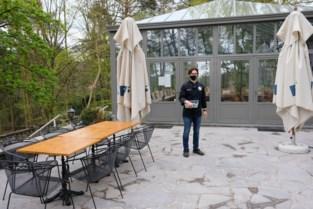 De orangerie mocht niet, maar het terras van restaurant The Hill is helemaal klaar voor de opening
