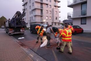 Brandweer heeft twee uur werk om gelekte olie op te kuisen