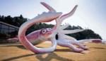 Japans stadje geeft 190.000 euro uit noodfonds uit aan .. enorm inktvisstandbeeld
