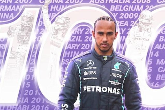 Lewis Hamilton verovert 100ste polepositie in de Formule 1