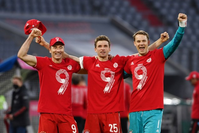Bayern München viert nieuwe landstitel in stijl en legt er maar liefst zes in het mandje tegen Mönchengladbach