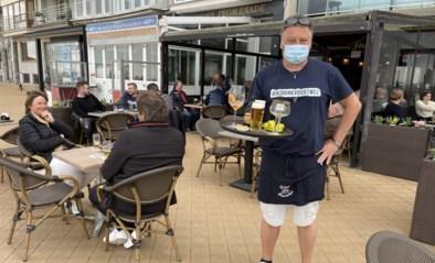 """Kalme start bij opening van terrassen in Oostende: """"Jammer van het weer, maar we kunnen terug doen wat we graag doen"""""""