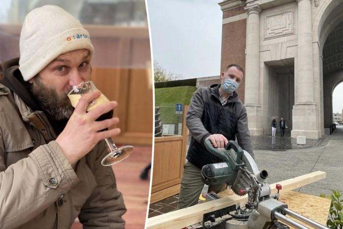 """Regen en getimmer door plexischermheisa deren eerste klant van nieuw café niet: """"Ik heb vandaag maar 14 uur om ervan te profiteren"""""""