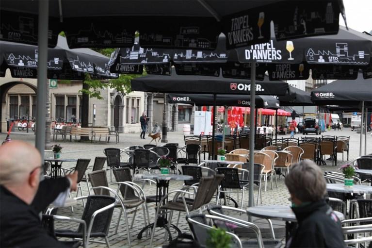 Ree huppelt plots op Antwerpse Grote Markt en zwemt later Schelde over
