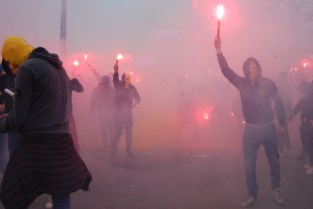 Misnoegde supporters Waasland-Beveren blokkeren poort stadion: 12 supporters Seraing opgepakt
