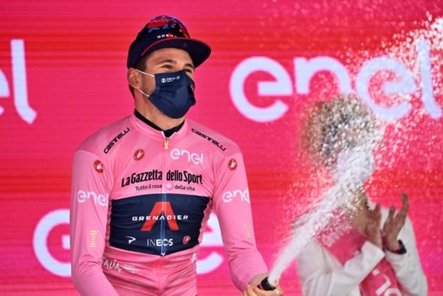 """Filippo Ganna denkt morgen het roze te verliezen: """"Ik zag een sterke Remco op de klimmetjes"""""""