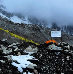 China bakent grens af op top van Mount Everest