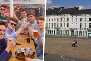 Volle Overpoort, lege krijtcirkels: Sint-Pietersplein heeft afgedaan nu de terrassen open zijn