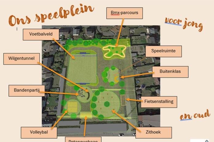 Oud voetbalveld wordt speeltuin, nog voor komende zomer