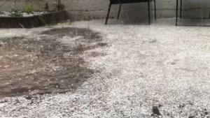 Hevige hagel- en onweersbui zorgt voor wateroverlast in Zonnebeke