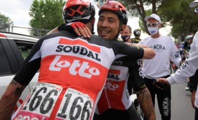 """Caleb Ewan zorgt voor feest bij Lotto-Soudal: """"Het was een gevaarlijke finale, maar mijn team deed fantastisch werk"""""""