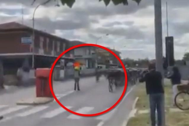 Video van toeschouwer toont pas hoe zwaar Mikel Landa crashte op seingever in Giro