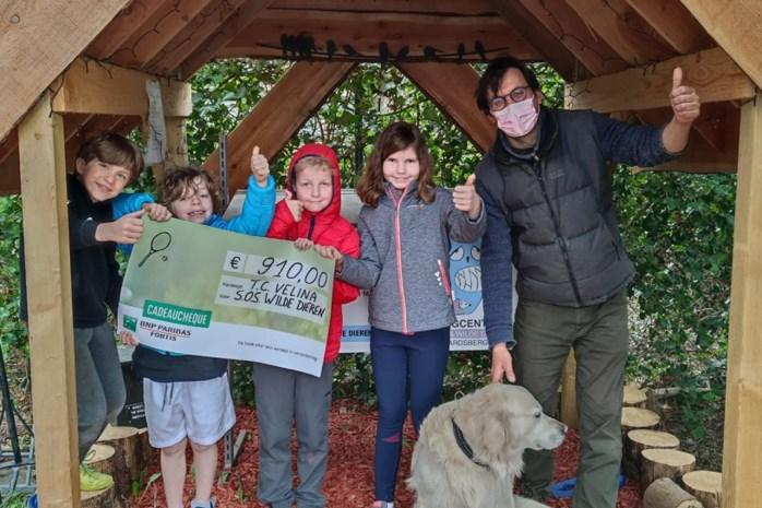 Tennisclub Velina schenkt 910 euro aan SOS Wilde Dieren
