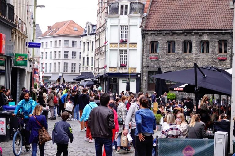 'Code rood' in centrum Gent: drukste dag sinds het uitbreken van de coronacrisis