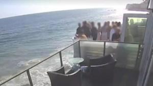 Feestje kent pijnlijk einde: balkon stort in omdat er veel te veel mensen op staan