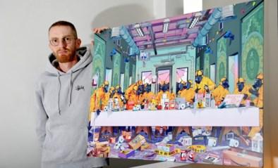 """Bert Dries (31) werd in paar maanden miljonair door kunstwerken die koper nooit zal krijgen: """"Ik vroeg nog of ik geen print moest opsturen. Dat wou hij niet"""""""