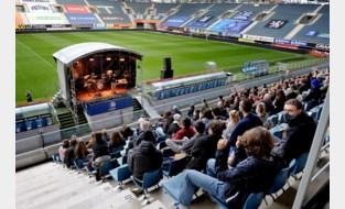 Eerst de neuswisser, dan muziek: Ghelamco Arena proefdraait voor zomerse evenementen