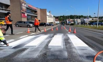 Zwevend zebrapad op Eigenbrakelse steenweg positief voor voetgangers