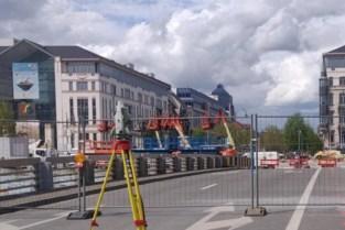 Sainctelettebrug maandag weer gedeeltelijk open na brand
