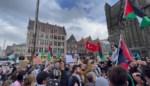 """Duizend mensen op de Korenmarkt voor Palestijnse zaak: """"Niet toegelaten, maar wordt gedoogd"""""""