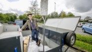Student beeldhouwen volgt als masterproef E40 van Calais tot Krakau met rijdende exporuimte