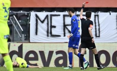 KV Oostende-doelman Guillaume Hubert komt ervan af met voorwaardelijke straf na rode kaart tegen AA Gent