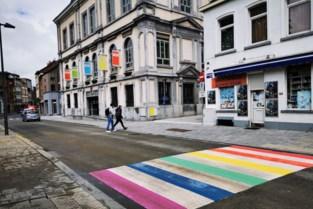 Eerste regenboogzebrapad in Zennestad in gebruik genomen