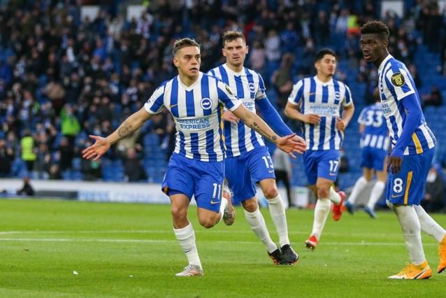 Leandro Trossard zet met knappe goal Brighton op weg naar stuntzege tegen Manchester City: van 0-2 naar 3-2