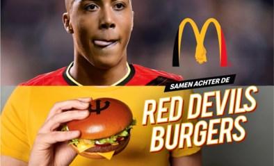 McDonald's steunt Rode Duivels met Red Devils burger